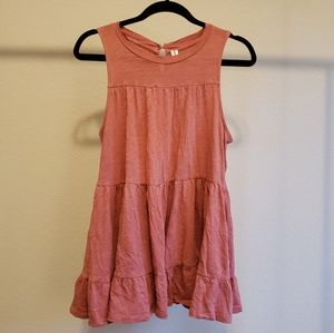 Anthropologie Tiered Key Hole Back tank Top